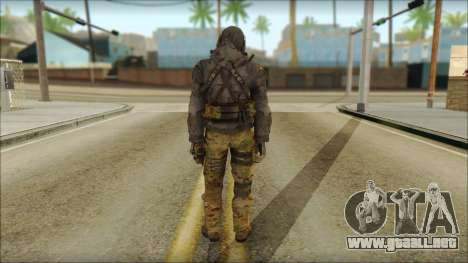 Latino Resurrection Skin from COD 5 para GTA San Andreas segunda pantalla