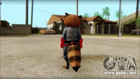 Guardians of the Galaxy Rocket Raccoon v1 para GTA San Andreas segunda pantalla