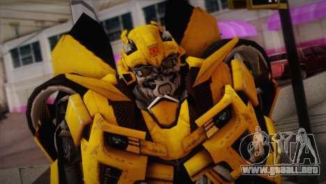 Bumblebee TF2 para GTA San Andreas tercera pantalla