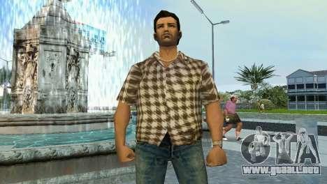 Kockas polo - koszos T-Shirt para GTA Vice City segunda pantalla