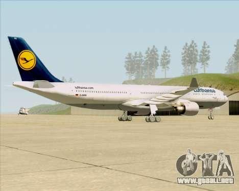 Airbus A330-300 Lufthansa para la visión correcta GTA San Andreas