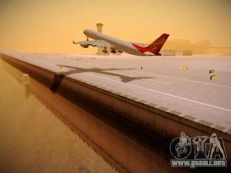 Airbus A340-600 Hainan Airlines para GTA San Andreas vista posterior izquierda