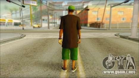 New Grove Street Family Skin v3 para GTA San Andreas segunda pantalla