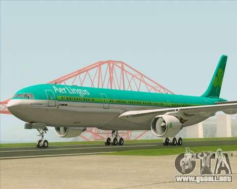 Airbus A330-300 Aer Lingus para GTA San Andreas left