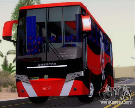 Busscar Elegance 360 C.R.F Flamengo para GTA San Andreas vista hacia atrás