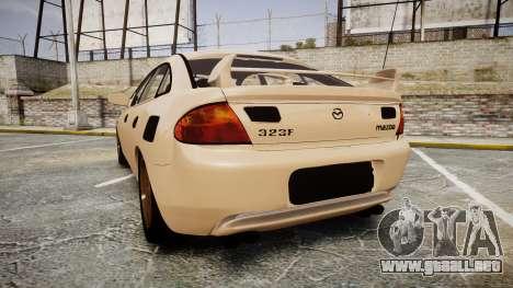 Mazda 323f 1998 para GTA 4 Vista posterior izquierda