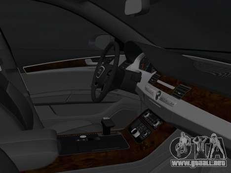 Audi A8 2010 W12 Rim3 para GTA Vice City vista interior