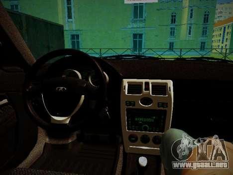 Lada Priora Coupe para GTA San Andreas vista hacia atrás