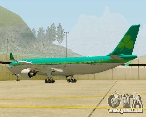Airbus A330-300 Aer Lingus para GTA San Andreas vista posterior izquierda