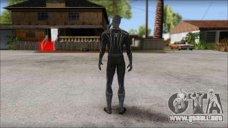 Standart Black Spider Man para GTA San Andreas segunda pantalla