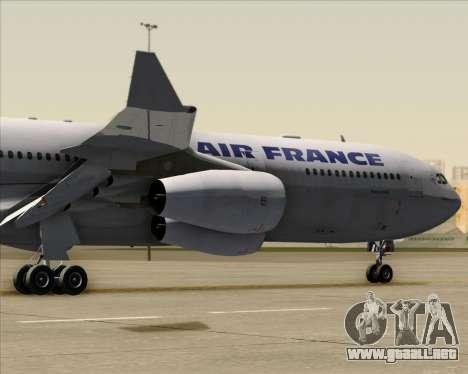 Airbus A340-313 Air France (Old Livery) para GTA San Andreas vista hacia atrás