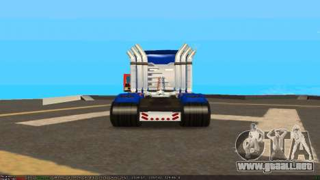 Peterbilt 379 Optimus Prime para la visión correcta GTA San Andreas