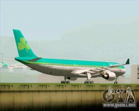 Airbus A330-300 Aer Lingus para la visión correcta GTA San Andreas