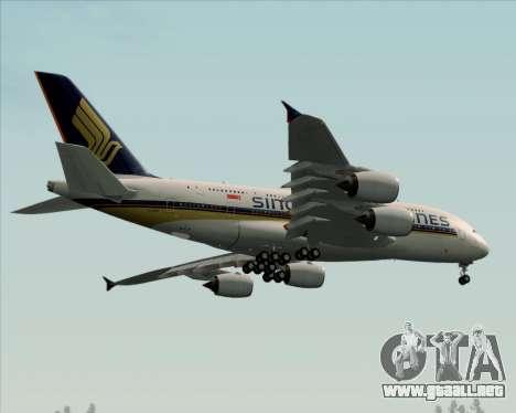 Airbus A380-841 Singapore Airlines para visión interna GTA San Andreas