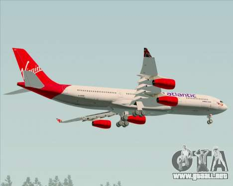 Airbus A340-313 Virgin Atlantic Airways para visión interna GTA San Andreas