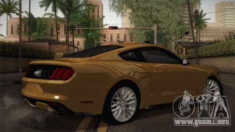 Ford Mustang GT 2015 para GTA San Andreas left