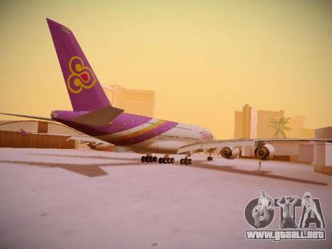 Airbus A380-800 Thai Airways International para la visión correcta GTA San Andreas