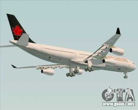 Airbus A340-313 Air Canada para visión interna GTA San Andreas
