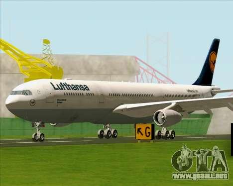Airbus A340-313 Lufthansa para GTA San Andreas left