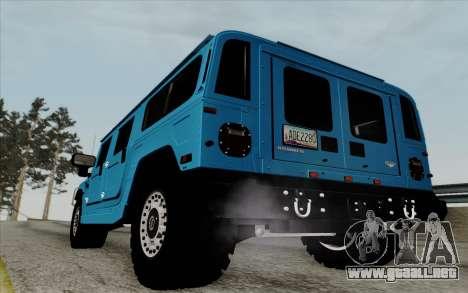 Hummer H1 Alpha 2006 Road version para la visión correcta GTA San Andreas