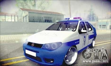 Fiat Albea Police Turkish para GTA San Andreas vista hacia atrás