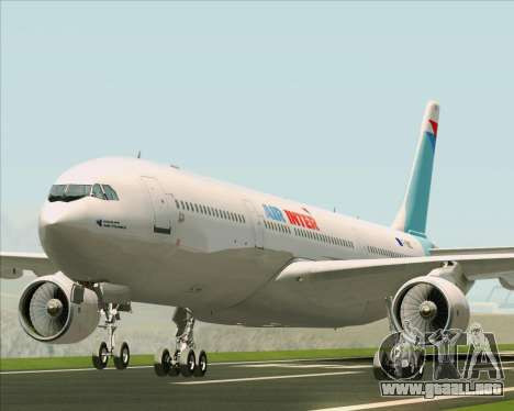 Airbus A330-300 Air Inter para GTA San Andreas left
