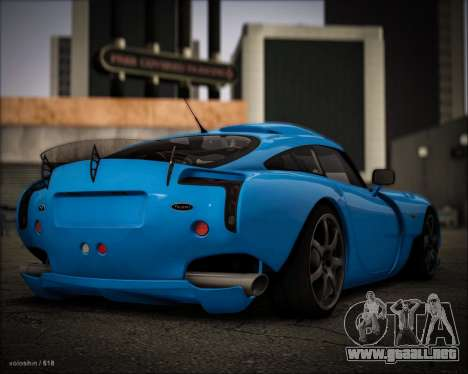 TVR Sagaris 2005 para GTA San Andreas left