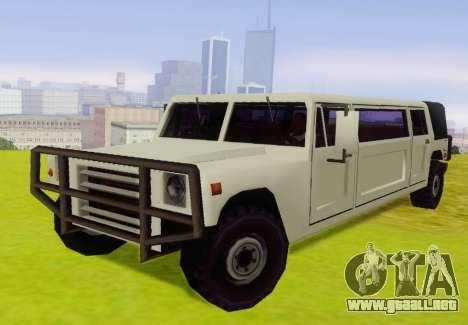 Patriot Limousine para GTA San Andreas