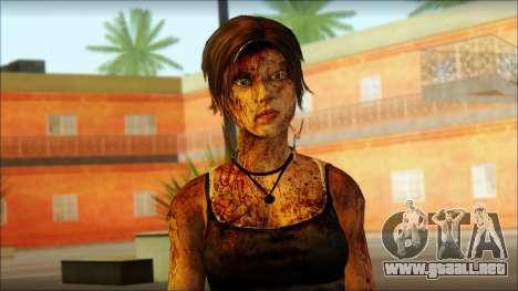 Tomb Raider Skin 13 2013 para GTA San Andreas tercera pantalla