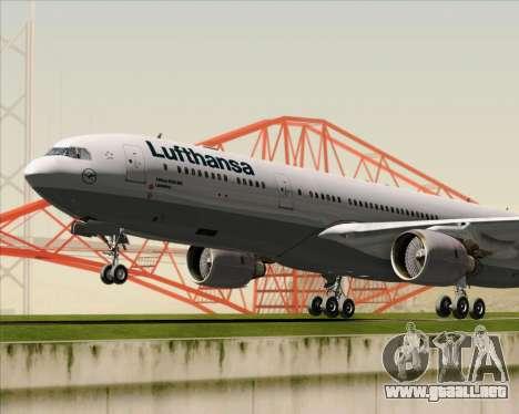 Airbus A330-300 Lufthansa para la vista superior GTA San Andreas
