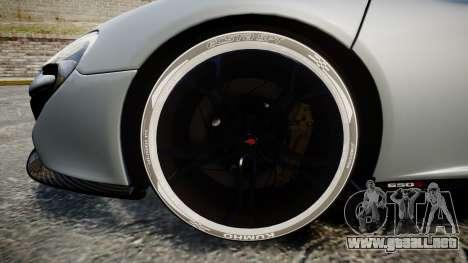 McLaren 650S Spider 2014 [EPM] KUMHO para GTA 4 vista hacia atrás