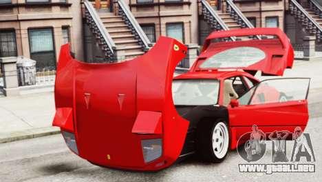 Ferrari F40 1987 para GTA 4 vista hacia atrás