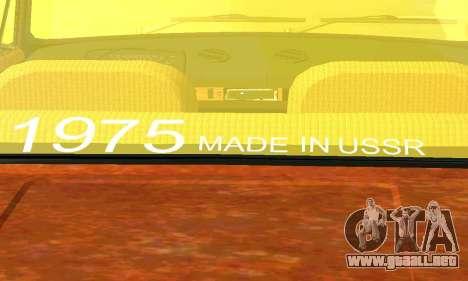 VAZ 2101 Rat-look para GTA San Andreas vista hacia atrás