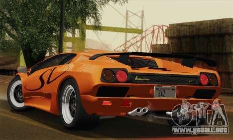Lamborghini Diablo SV 1995 (ImVehFT) para la visión correcta GTA San Andreas