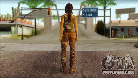 Tomb Raider Skin 8 2013 para GTA San Andreas segunda pantalla
