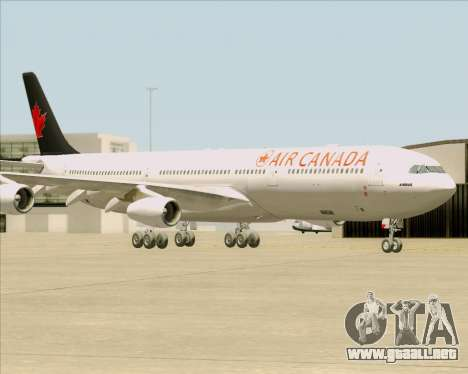 Airbus A340-313 Air Canada para vista lateral GTA San Andreas