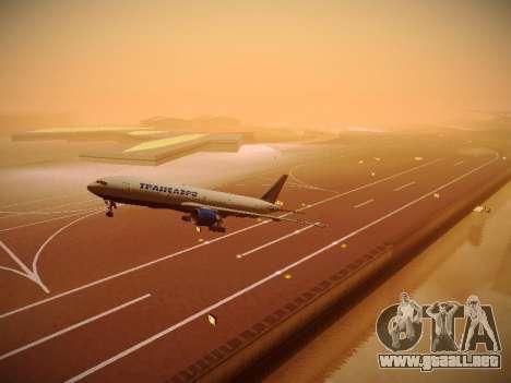Boeing 777-212ER Transaero Airlines para la vista superior GTA San Andreas