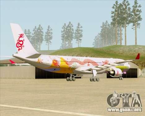 Airbus A330-300 Dragonair (20th Year Livery) para la visión correcta GTA San Andreas