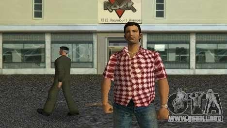 Kockas polo - piros T-Shirt para GTA Vice City tercera pantalla