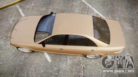 Schafter AMG para GTA 4 visión correcta