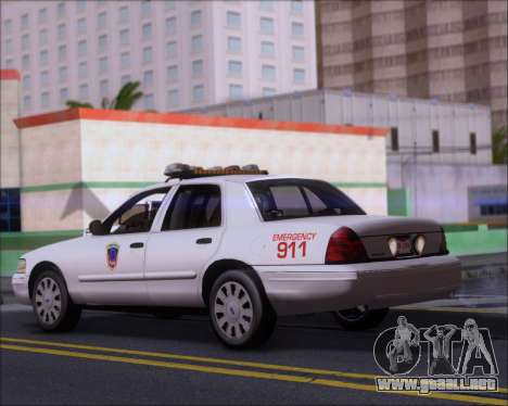 Ford Crown Victoria Tallmadge Battalion Chief 2 para GTA San Andreas vista posterior izquierda