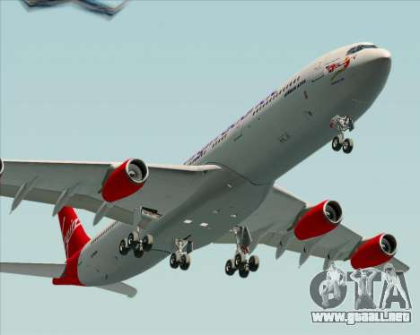 Airbus A340-313 Virgin Atlantic Airways para GTA San Andreas vista hacia atrás