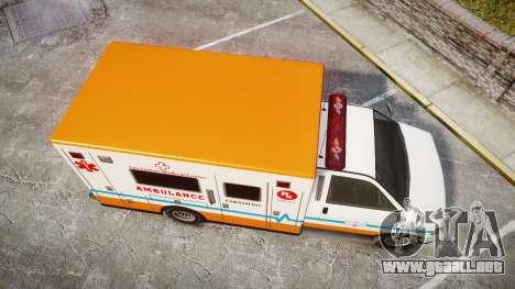 GTA V Brute Ambulance [ELS] para GTA 4 visión correcta