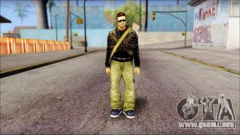 Shades and Gun Claude v1 para GTA San Andreas