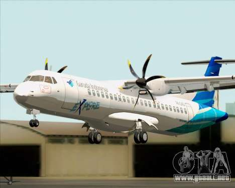 ATR 72-500 Garuda Indonesia Explore para GTA San Andreas vista hacia atrás