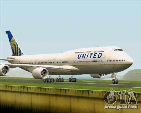 Boeing 747-8 Intercontinental United Airlines para GTA San Andreas left