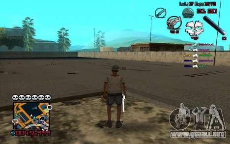 C-HUD by SampHack v.13 para GTA San Andreas tercera pantalla
