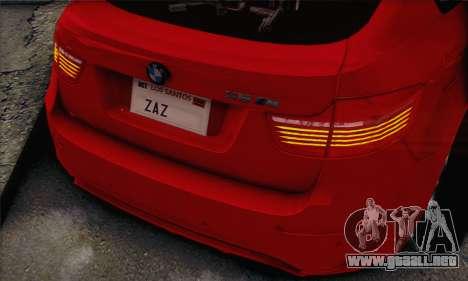 BMW X6M 2013 v3.0 para la visión correcta GTA San Andreas