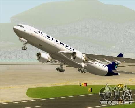 Airbus A330-300 Olympic Airlines para las ruedas de GTA San Andreas