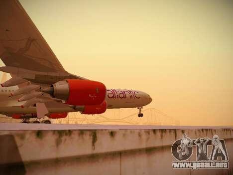 Airbus A340-600 Virgin Atlantic New Livery para la vista superior GTA San Andreas